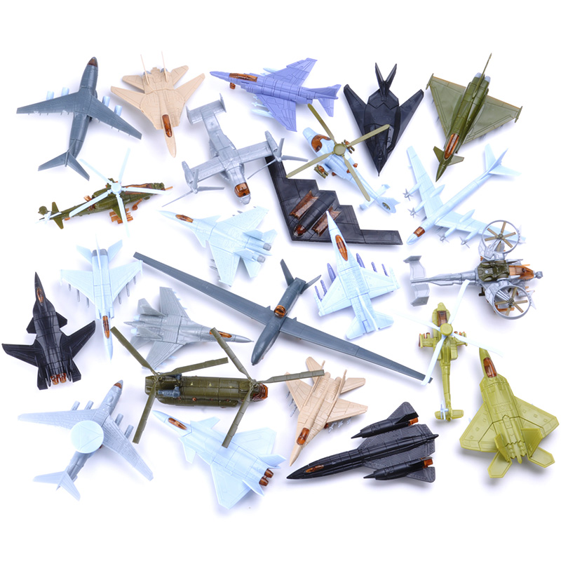 10 Pcs DIY 3D Blocks Assemble Aircraft Puzzles Toys Models Building Toy Newest