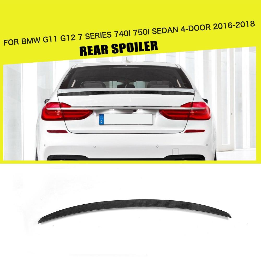 Carbon Fiber Rear Spoiler Window Wing for BMW G11 G12 7 Series 740i 750i Sedan 4 Door 2016-2018 MP Style carbon fiber rear spoiler wing tail lip for bmw f01 f02 f03 f04 7 series sedan 740i 750i 2010 2015