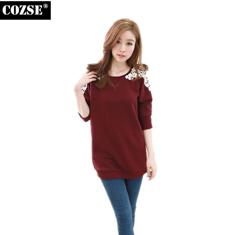 2015 New Korean Summer Style Full Sleeve Solid Fashion T Shirt Women Clothing Tops Cute Casual