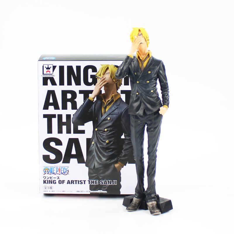 26 centímetros Anime One Piece Rei do Artista A Estatueta Sanji PVC Action Figure Model Collection Toy Kids Presentes Boneca
