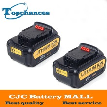 2pcs High Quality 20V 4000mAh Battery Power Tools Batteries Replacement Cordless for Dewalt DCB181 DCB182 DCD780