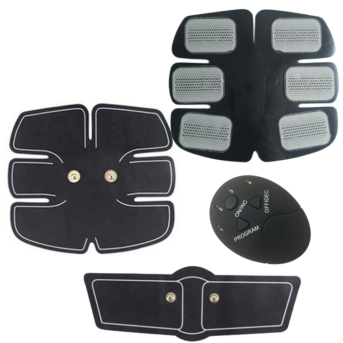Useful Hot Healthy Smart Abdominal Muscle Trainer Sticker Gym Abs Muscle Stimulator Pad Fitness Arm Sticker Electric Pulse Stickers Skin Care Tools