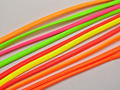 12 Meters Mixed Neon Color Flat Soft Synthetic Leather Jewelry Cord 4X2mm