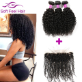 Peerless Peruvian Kinky Curly Virgin Hair With Lace Frontal Closure Sale Cheap Kinky Curly Weave Human Hair Bundles With Frontal
