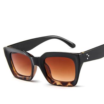 2019 okulary przeciwsłoneczne damskie stylowe topy prostokąt okulary przeciwsłoneczne damskie nowy w stylu Vintage okulary przeciwsłoneczne damskie Retro klasyczne okulary tanie i dobre opinie 36mm Plastikowe tytanu Dla dorosłych 5157 Kobiety SHYBIRD 48mm UV400 Poliwęglan