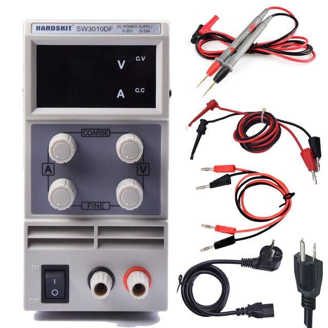 Mini Digital DC Regulator Adjustable Power Supply SW3010DF 30V 10A 110V 220V Voltage Switching Power Supply