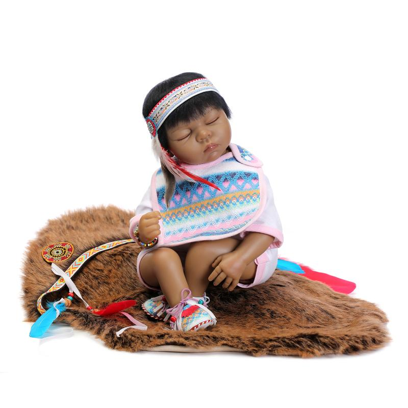 22 55cm Native American Indian Reborn Baby Doll Silicone Newborn Baby Doll Collectible Toys Girl for Kids22 55cm Native American Indian Reborn Baby Doll Silicone Newborn Baby Doll Collectible Toys Girl for Kids