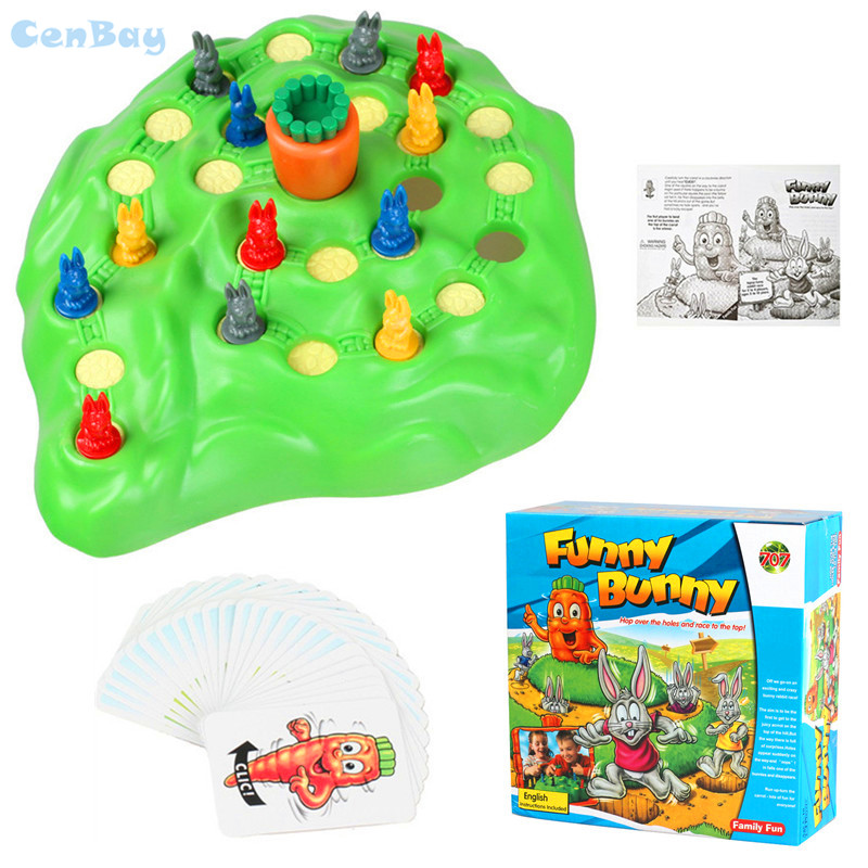 Funny Bunny Rabbit Children Board Trap Game Rabbit Checkers Parent-child Interaction Family Game for Kids Toddler Toys Gifts