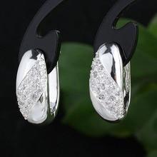 Ясно CZ Пирсинг Английском Замке Стерлингового Серебра 925 Серьги Женщины Платье Ювелирные Изделия E080