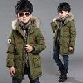 Детская одежда зимой ребенок мужского парки 2016 ватные пальто верхняя одежда средний - длинные утолщение мальчик хлопка-ватник