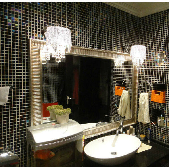 Online Shop Iridescence Balck Glass Mosaic Tile Wall Tile Bathroom - Bathroom showrooms online