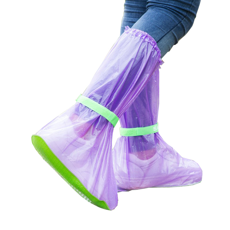 PVC Portable Rain Boots Transparent Waterproof Shoe Cover Outdoor Travel Wholesale Bulk Lots Accessories Supplies Gear Products