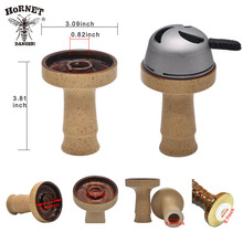 """Ceramic bowl hookah with central big funnel - Perfect for Kaloud Lotus 3.81 inch"""" height shisha bowl"""""""
