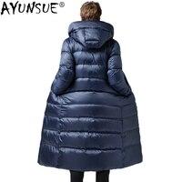 AYUNSUE зимняя длинная куртка на гусином пуху мужская одежда мужской пуховик парка куртки Мужская ветровка 0005 KJ1336
