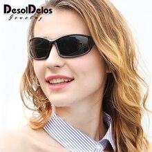 DesolDelos Polarized Sunglasses Women Men Polaroid UV400 Sun Glasses Red Mirrored Retro Black Shades Eyewear Accessory gafas