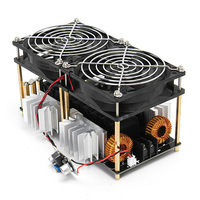 1800W ZVS Durable DIY Low Voltage Dual Fans Black Coil PCB High Frequency Convenient Module Plate Stable Induction Heating Board