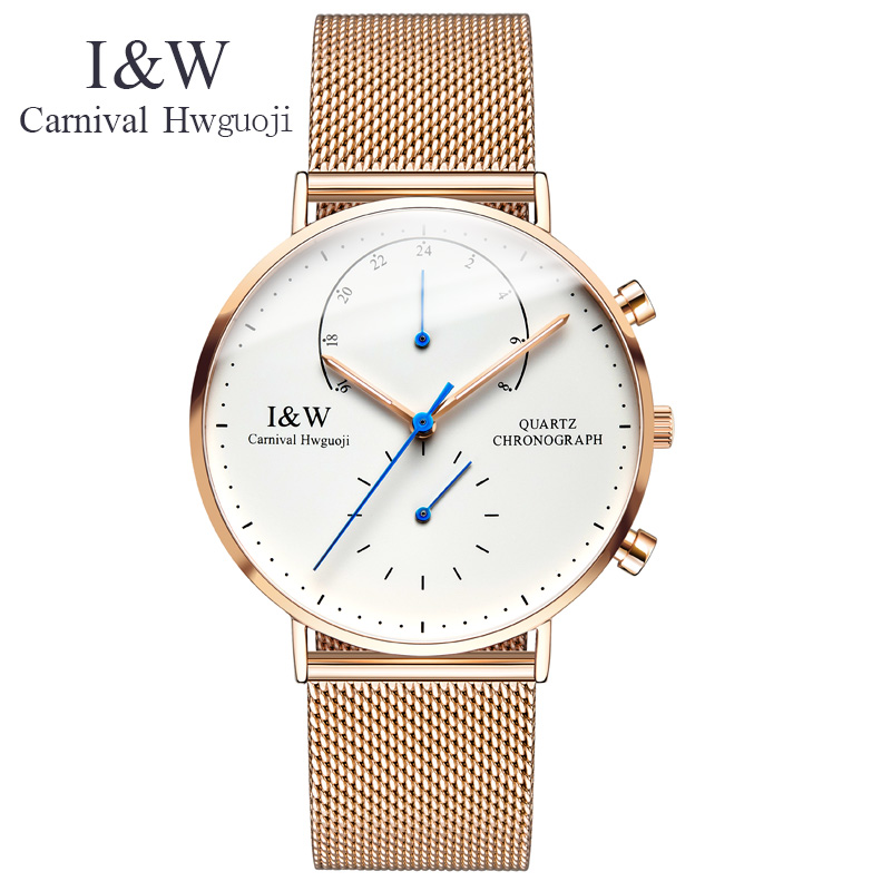 Watch Men Top Brand Luxury Ultra Thin Carnival Stainless Steel Mesh Band Quartz Men Watches Sapphire Fashion Casual Male Clock bestdon new top luxury watch men brand men s watches ultra thin stainless steel mesh band quartz wristwatch fashion casual clock