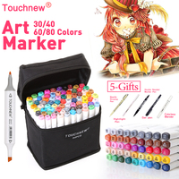 TOUCHNEW 30 40 60 80Colors Sketch Copic Markers Pen Oily Alcoholic Dual Headed Art Marker Set