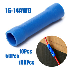 50Pcs Blue Insulated Butt Conn