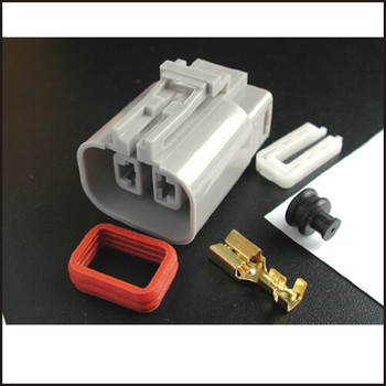 100set wire connector female cable connector male terminal Terminals 2-pin connector Plugs sockets seal Fuse box DJ7026Y-6.5-21 фото