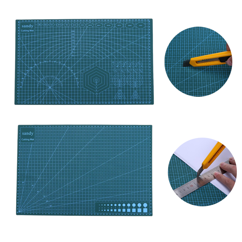 A3 Cutting Mat PVC Double Side Non Slip Cutting Pad DIY Self-healing Patchwork Cutting Board Fabric Paper Tools 450*300m