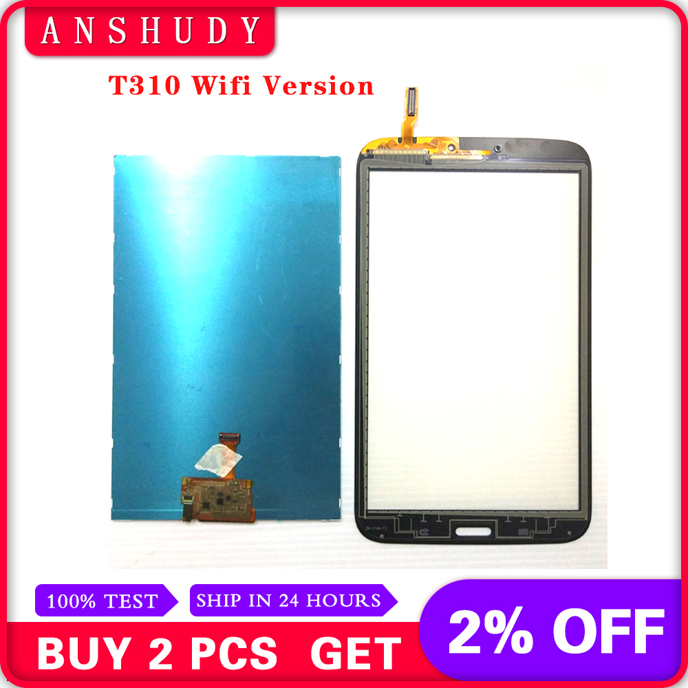 For Samsung Galaxy Tab 3 8.0 T310 T311 SM-T310 SM-T311 LCD Display Panel Monitor Module + Touch Screen Digitizer Sensor GlassFor Samsung Galaxy Tab 3 8.0 T310 T311 SM-T310 SM-T311 LCD Display Panel Monitor Module + Touch Screen Digitizer Sensor Glass