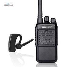 블루투스 워키 토키 충전식 2 웨이 라디오 UHF 400 470MHz 휴대용 라디오 무선 블루투스 헤드셋 16CH 이어폰 HB4