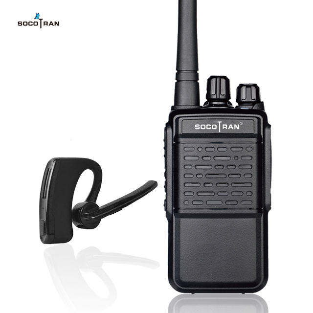 Bluetooth Walkie Talkie Rechargeable 2 Way Radio UHF 400 470MHz Portable radio Wireless Bluetooth headset 16CH with Earpiece HB4