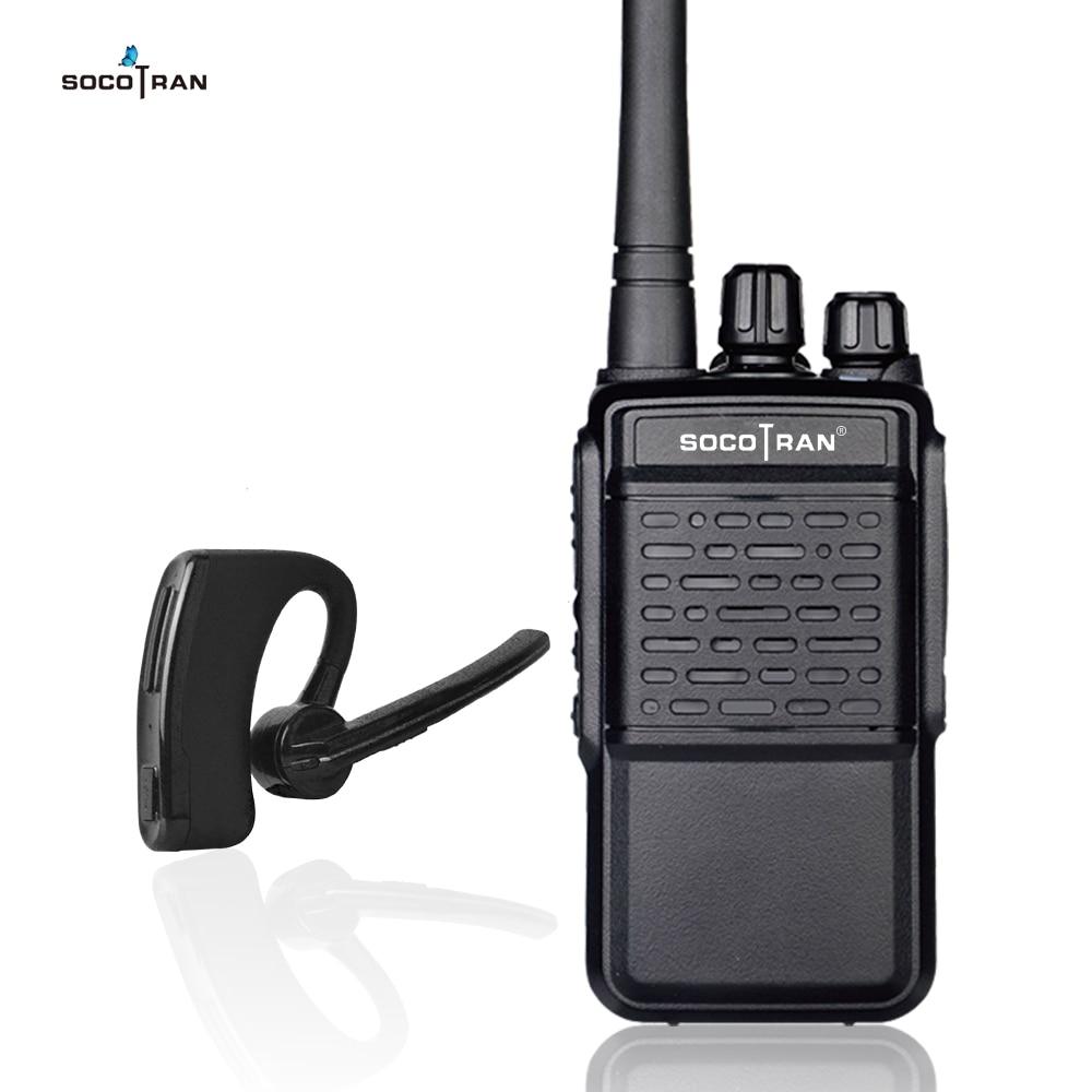 Bluetooth talkie-walkie Rechargeable 2 voies Radio UHF 400-470 MHz Portable radio sans fil Bluetooth casque 16CH avec écouteur HB4