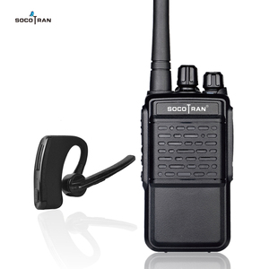 Image 1 - Walkie Talkie Bluetooth recargable Radio de 2 vías UHF 400 470MHz Auriculares inalámbricos con Bluetooth de radio portátil 16CH con auricular HB4