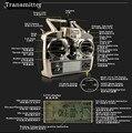 6-канальный передатчик / контроллер комплект для WLToys V966 V977 V930 одним V931 V988 пульт дистанционного управления RC вертолет