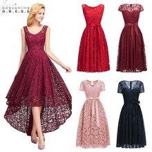 574a634da8 Sexy Illusion wysoki niski koronkowe suknie koktajlowe elegancki Plus  rozmiar 2-26 W krótki Party suknie Vestidos Coctel Robe de.