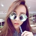 Fashion multicolour 2016 mercury Mirror glasses men sunglasses women male female coating sunglass gold round 041#