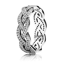 New Trendy Real 925 Sterling Silver Fashion Sparkling Cubic Zirconia Ring For Women Engagement Wedding Ring Fine Europe Jewelry цены