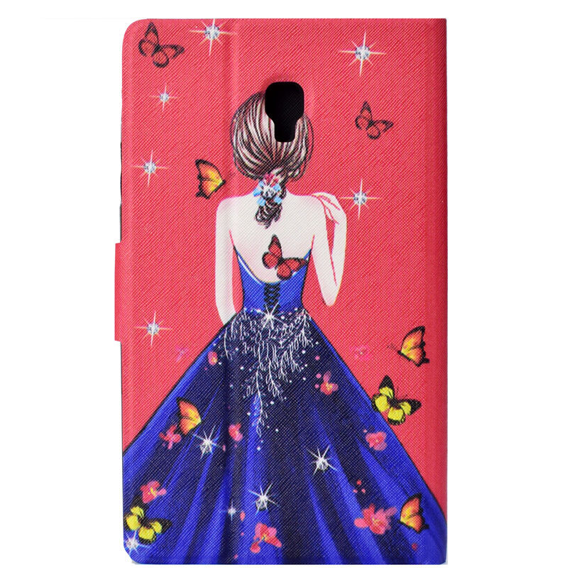 Fashion Girls Case For Samsung Galaxy Tab A 8.0 SM-T380 T380 T385 2017 8.0 Inch Cover Funda Tablet PU Leather Shell
