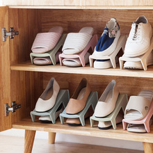 1pcs Plastic Shoes Storage Rack Shelves Double-Wide Shoe Holder Save Space Shoes Organizer Stand Shelf for Living Room