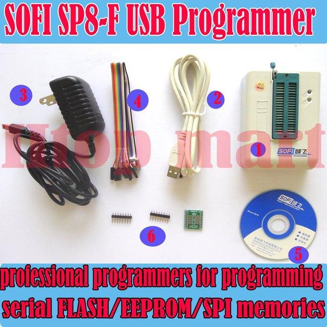 Sofi SP8-F programador EEPROM USB SPI 5000 + Chip de BIOS 24 / 25 / 93 / BR90 de