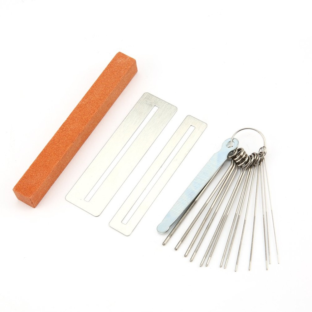 14pcs Guitar Repair Adjustment Tool Kit Files Guitar Neck Groove Grinding Files Diy With Complete Accessories Stainless Steel Buy One Give One