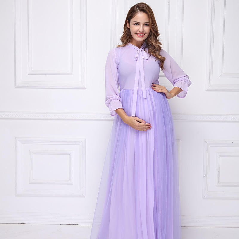 2018 Euro-America Maternity Photography Props Long Pregnancy Dresses Pregnant Clothes Strapless Maternity Photo Shoot M138 citilux cl126131