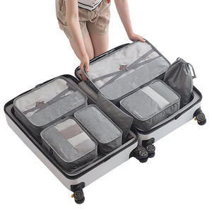 Organizer-Bag Packing-Cube Travel-Bags-Sets Clothing Sorting Luggage Large-Capacity Waterproof