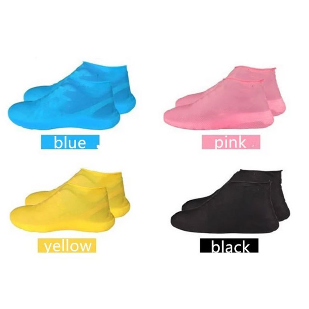 New Hot Anti-slip Latex Shoe Covers Reusable Waterproof Rain Boot Overshoes Shoes Can Dropship