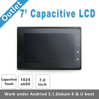 7inch Capacitive Touch LCD X710 1024 X 600 Resolution Works With 4418 Board Under U Boot