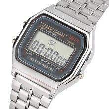 e5281a8156c Ouro Prata Esporte Relógios Banda de Aço Inoxidável Dos Homens Das Mulheres  de Luxo Relógio