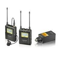 Saramonic UWMIC9 UHF Беспроводной петличный + передатчик XLR микрофон системы с поясной передатчик + Lav Mic, XLR Plug inTrans