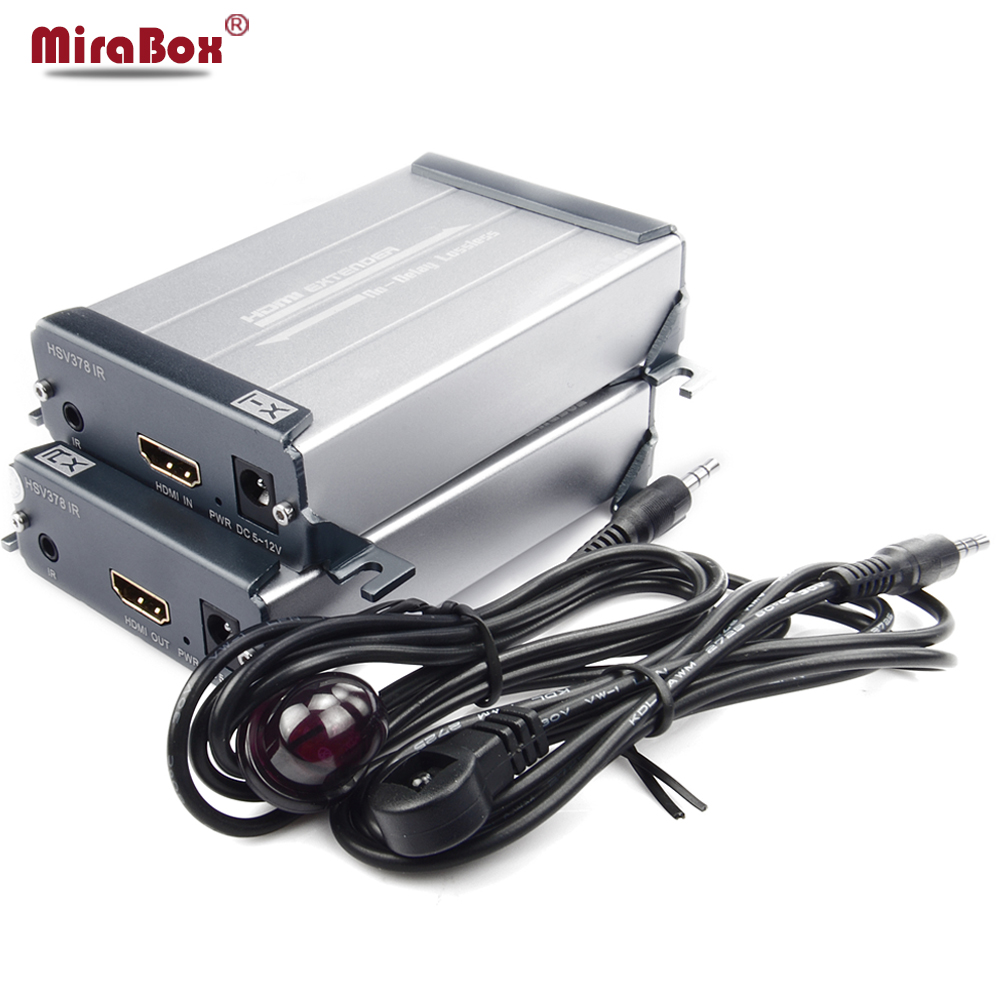 Mirabox 120m Lossless HDMI Network Extender IR Over Cat5/Cat5e/Cat6 1080P No Delay HDMI Adapter IR Transmitter + Receiver