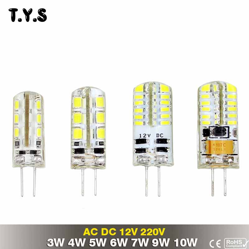 Светодиодная G4 светодиодные лампы 220 В 3 Вт 4 Вт 5 Вт 6 Вт 7 Вт 9 Вт 10 Вт Светодиодные пятно света DC 12 В AC светодиодные лампы Главная Освещение амп...