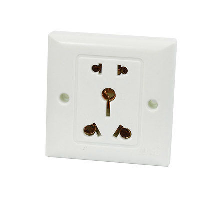 3 Pin AU 2 Pin US EU Socket White Square Wall Outlet Plate AC 250V 16A us au eu plug seat socket 2 gange on off switch wall mount plate ac 250v 10a