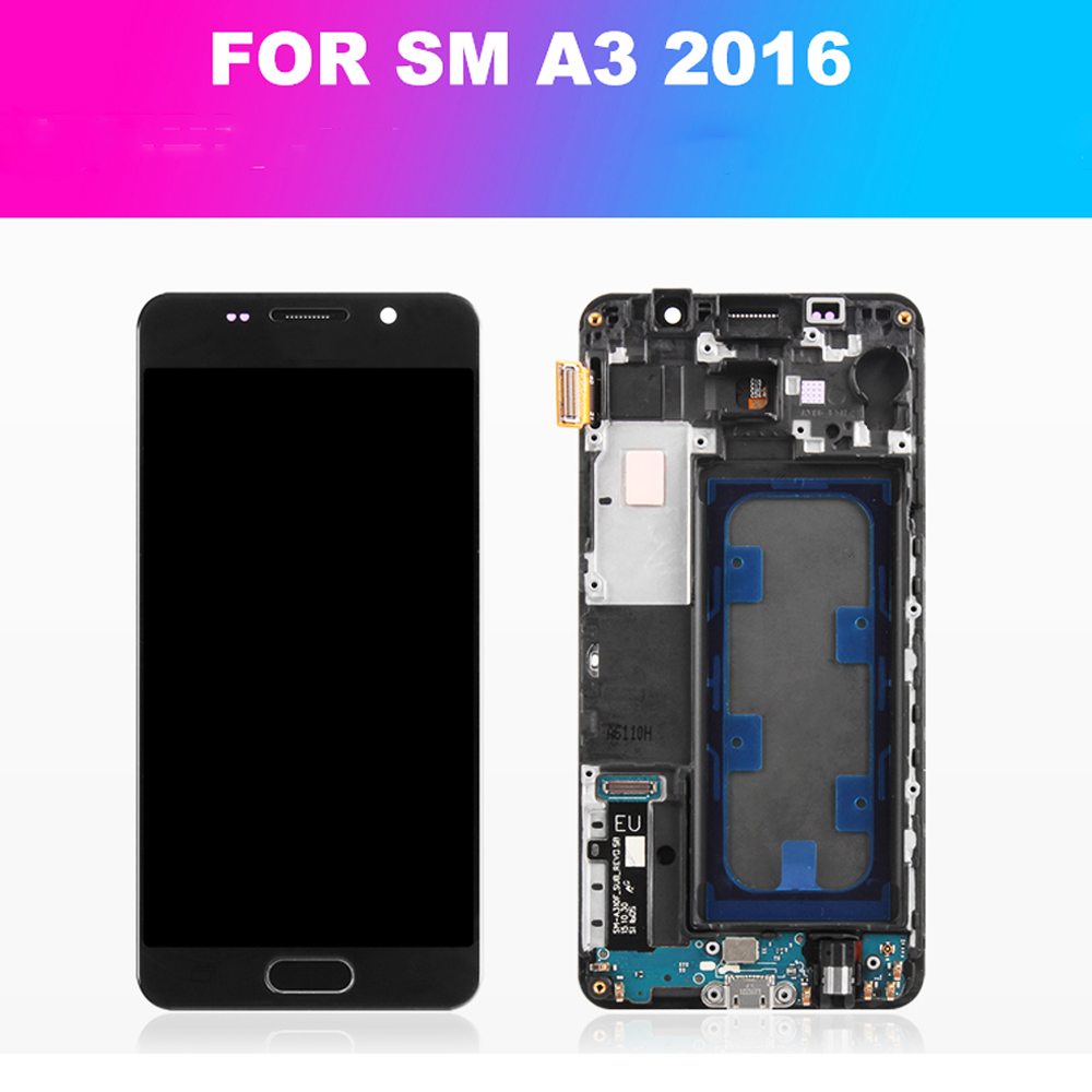 Super <font><b>AMOLED</b></font> 4.7'' LCD For Samsung Galaxy A3 2016 LCD <font><b>Display</b></font> Touch Screen Assembly Digitizer A310 <font><b>A310F</b></font> A310H A310M A310Y LCD image