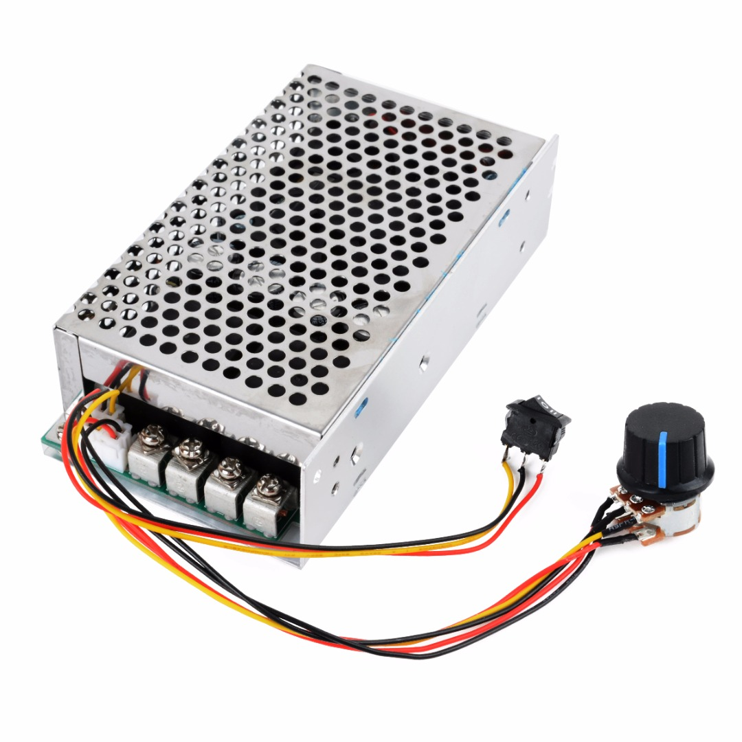 1pc DC 10-50V PWM Motor Speed Controller 100A 3000W Programable Reversible Control panlongic hand twist grip hall throttle 100a 5000w reversible pwm dc motor speed controller 12v 24v 36v 48v soft start brake