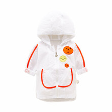 Children Clothing New Baby Girl Boy Toddler Cute Coat Fashion Hooded Sun Protection Summer Long Sleeve Kid Sweatsuit Jacket(China)